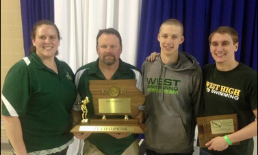 West reacts to boys swim team winning state championship