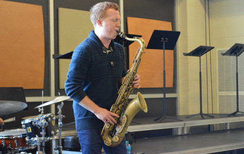 Jazz saxophonist Adam Larson visits West