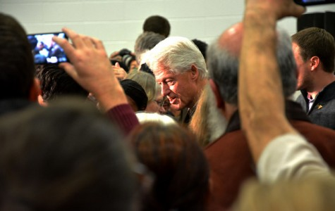 Bill Clinton makes an appearance at junior high