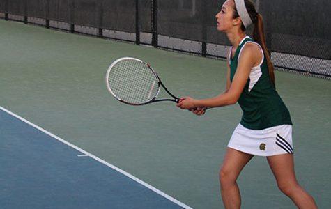 Tennis teams split with City High