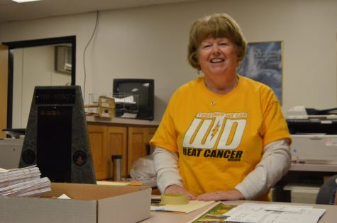 Athletic secretary Marcy Wardenburg spends last day at West High