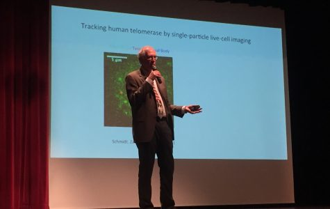 Nobel Prizewinner Tom Cech speaks to IC Area High School students