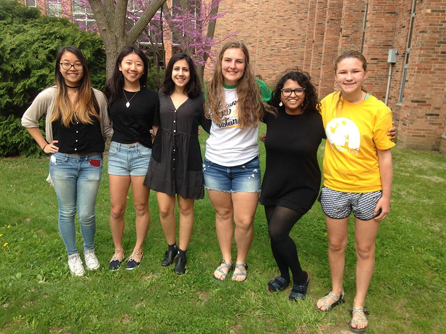 Six West Side Story staffers received recognition from Quill and Scroll for their journalistic work this year: Opinion Editor Eleanor Ho, Designer Wingel Xue, Print Editor-in-Chief Simran Sarin, Art Editor Leah Dusterhoft, Online Features Editor and Producer Samalya Thenuwara and Photographer Allie Schmitt-Morris.