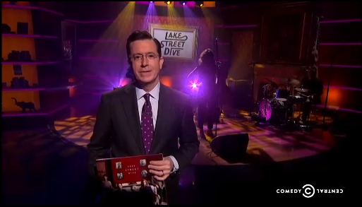 West graduate performs on The Colbert Report