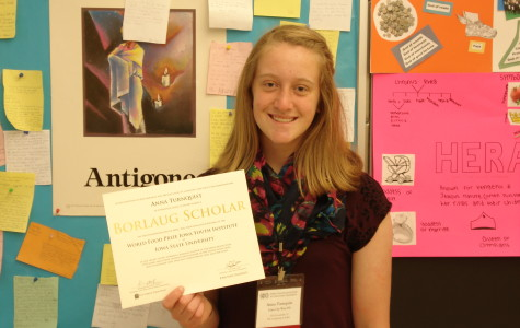 Anna Turnquist '16 attends The World Food Prize Iowa Youth Institute