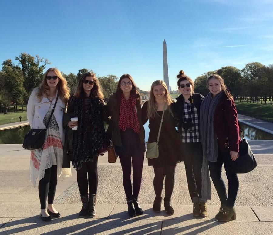 The West Side Story staff in Washington D.C. for the JEA/NSPA national high school journalism convention Nov. 6-9. Pictured left to right: Adviser Sara Whittaker, Isabelle Robles, Jaycie Weathers, Brittani Langland, Mary Mondanaro and McKenna Harris.