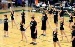 West High Poms guy and girl dance