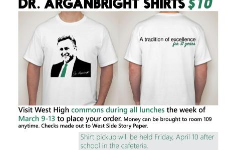Dr. Arganbright t-shirts
