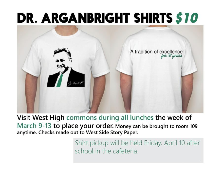 Dr. Arganbright t-shirts