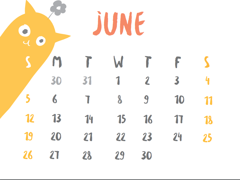 June+calendar