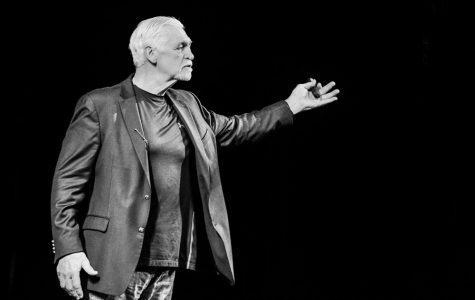 Joe Ehrmann speaks to the audience at the Englert Theatre on Sept. 28.