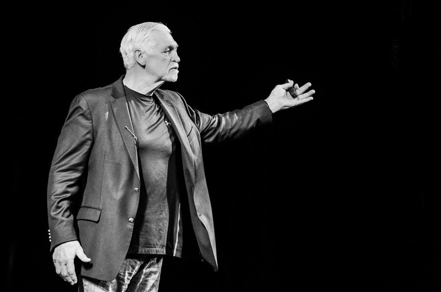 Joe Ehrmann speaks to the audience at the Englert Theatre on Sept. 28.
