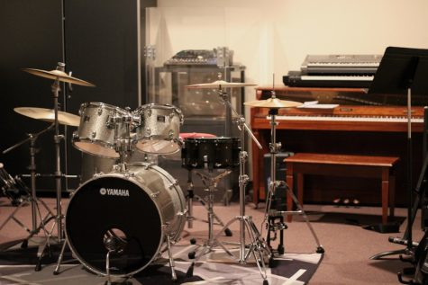 One of two of U.A.Y.'s professional-grade drum sets