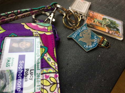 Lucy Polyak '19 has a keychain which consists of many good memories.