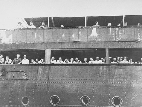Jewish immigrants aboard the MS St. Louis bound for the United States, 1939