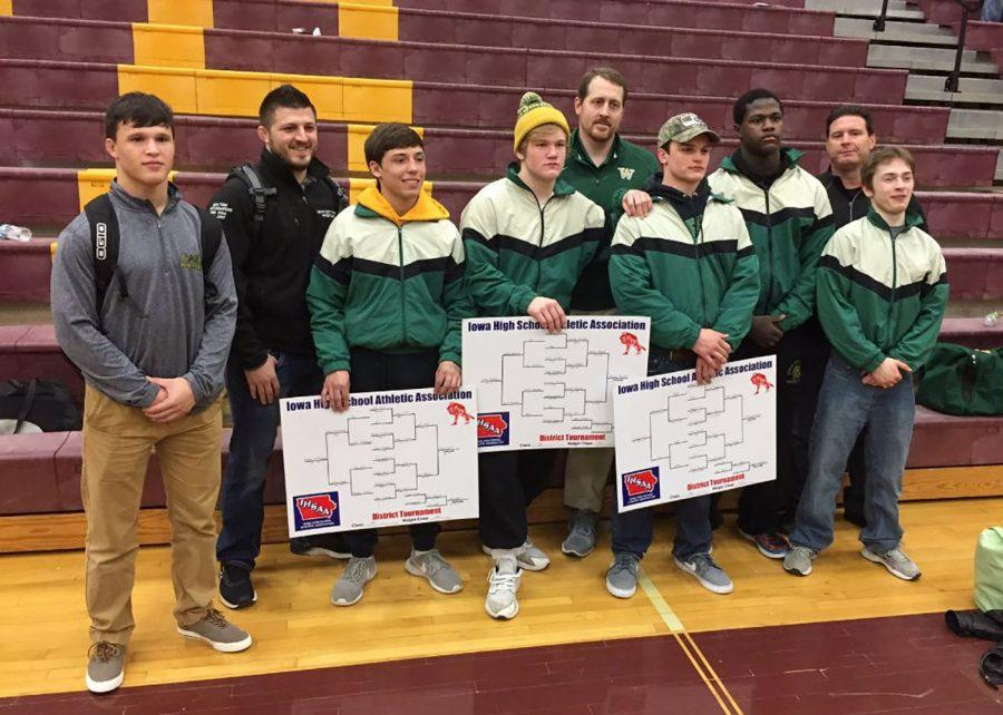 The Trojan wrestling team will send five wrestlers onto the Iowa High School State Wrestling Championships at Wells Fargo Arena in Des Moines from Feb. 16-18. Alex Aguirre '17, Nelson Brands '18, and Carter Rohweder '17 won the District tournament and Hans vonRabenau '18 and Guy Snow '18 placed second.