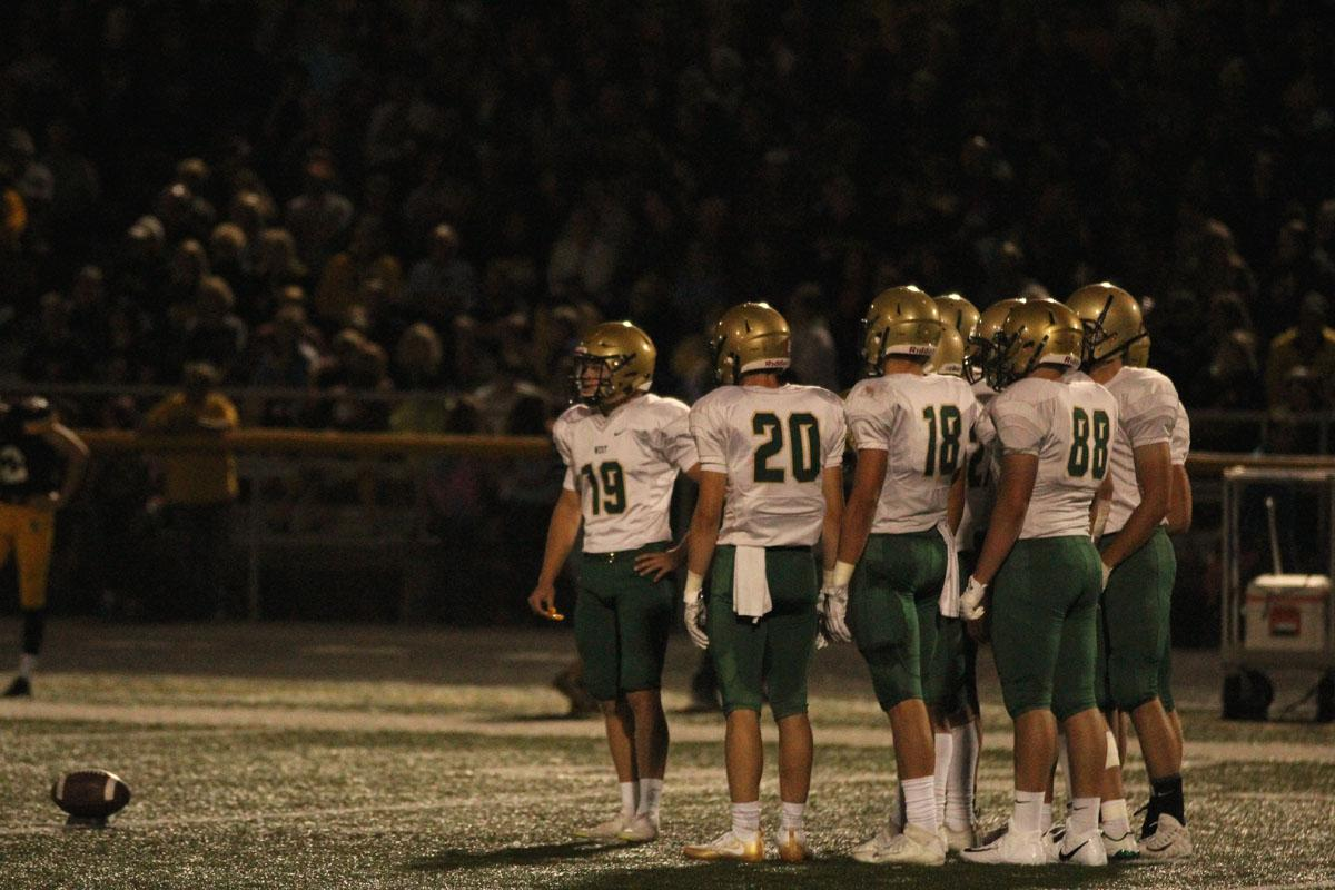 The special teams group gets ready for a kickoff after West scored on Friday, Aug. 25.