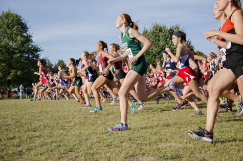 Girls cross country races forward