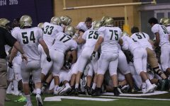 The team dog piles on top of each other in celebration after they won on Friday, Sep. 8.
