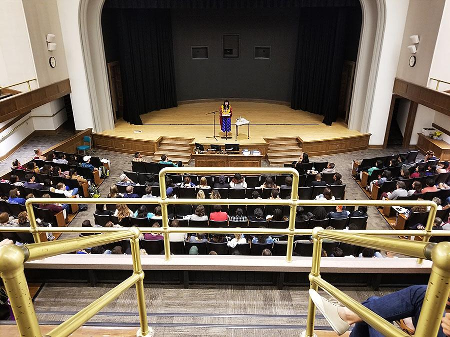 Sandra Cisneros held a public reading at Macbride Hall on Sept. 11 for college students majoring in literature.