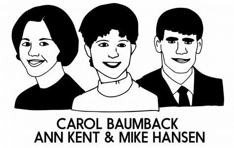 Carol Baumback, Ann Kent & Mike Hansen