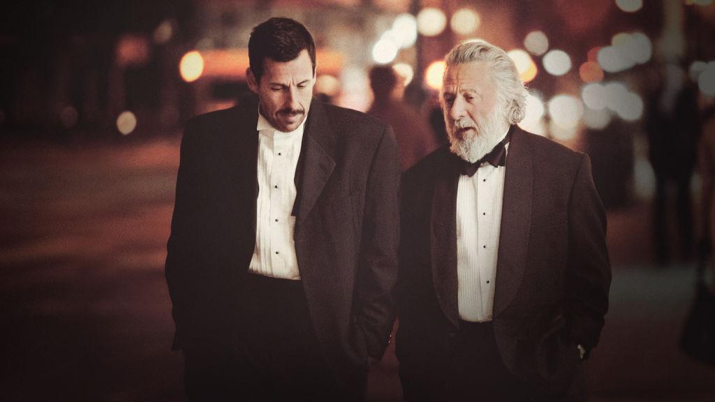 Adam Sandler (left) and Dustin Hoffman,( right) in