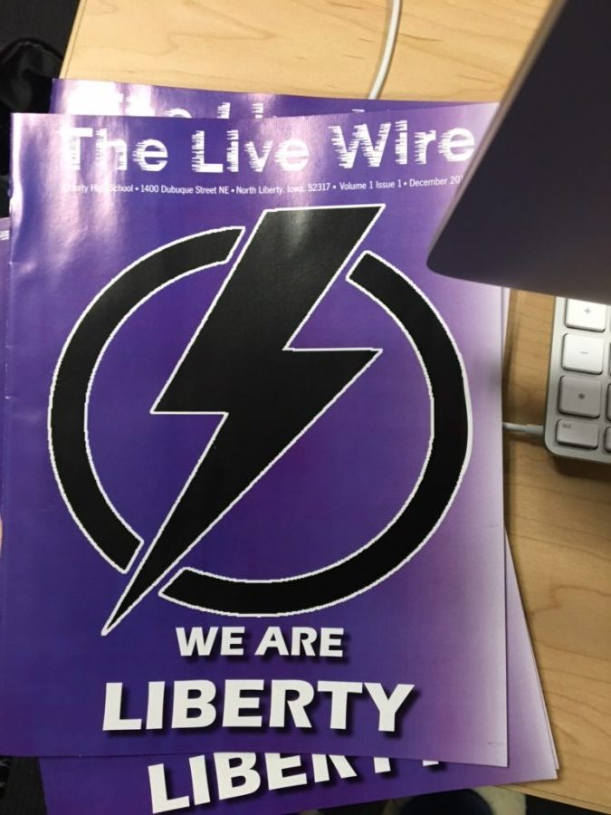 The cover of the first volume and issue of the The Live Wire.