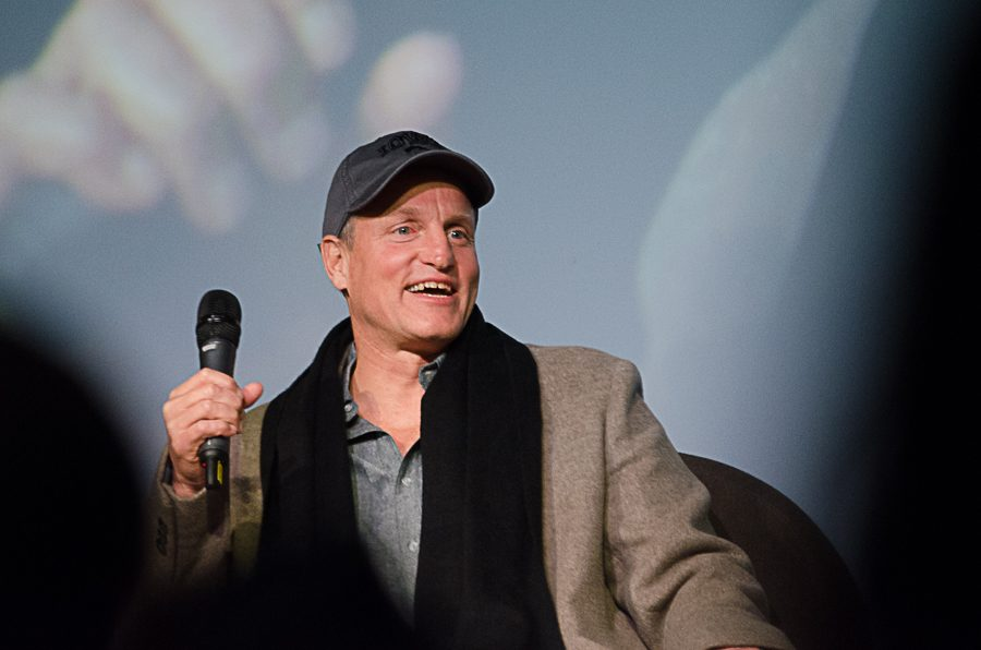 Woody+Harrelson+showed+his+unprecedented+film+%22Lost+in+London%22+to+an+Iowa+City+audience+on+Jan.+25+at+the+IMU.