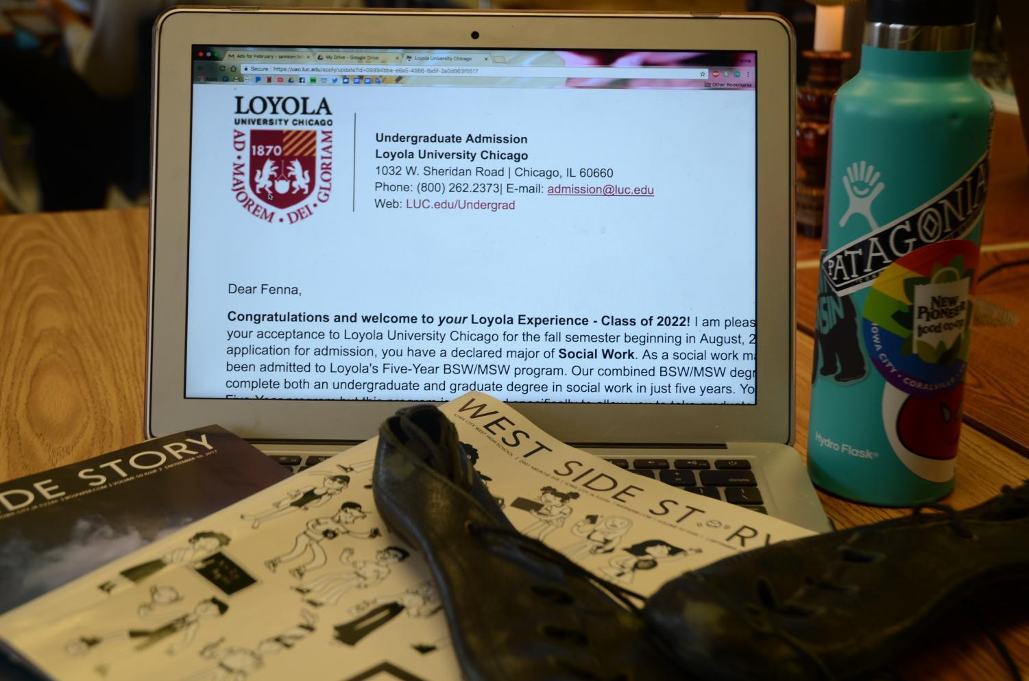 Items throughout the author's life that have influenced her opinion, such as the school newspaper and her dance shoes.