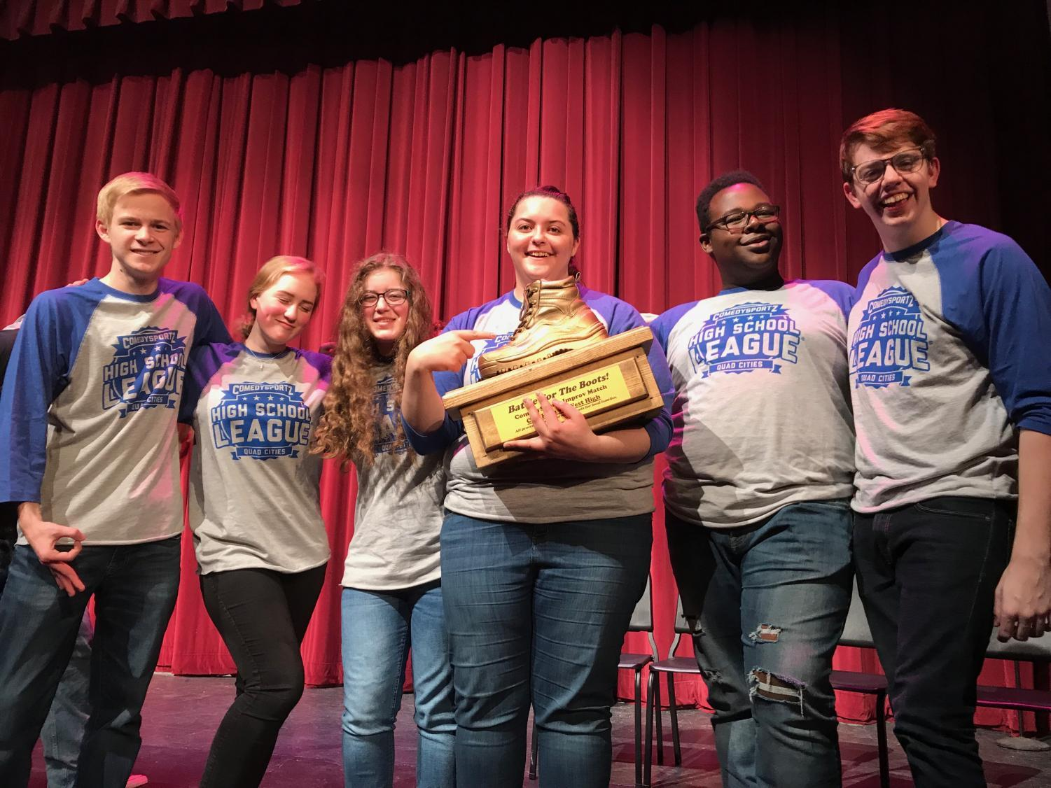 West's improv team took home one of two boots after tying with City High on Jan. 19.