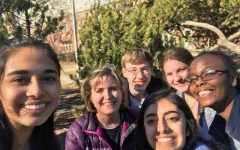 Shortly after the competition, the West Science Bowl team takes a group selfie.