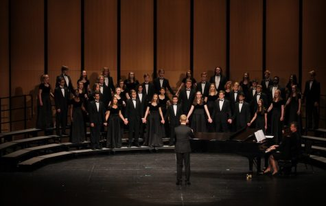 West Singers kick off their performance at ACDA on Friday, Feb. 16.