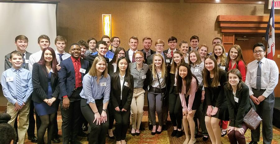 Many West High students traveled to Des Moines to compete in the State Leadership Conference.   Photo courtesy of Abbie Weipert.