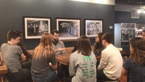 Zach Wahls meets to discuss issues with West students