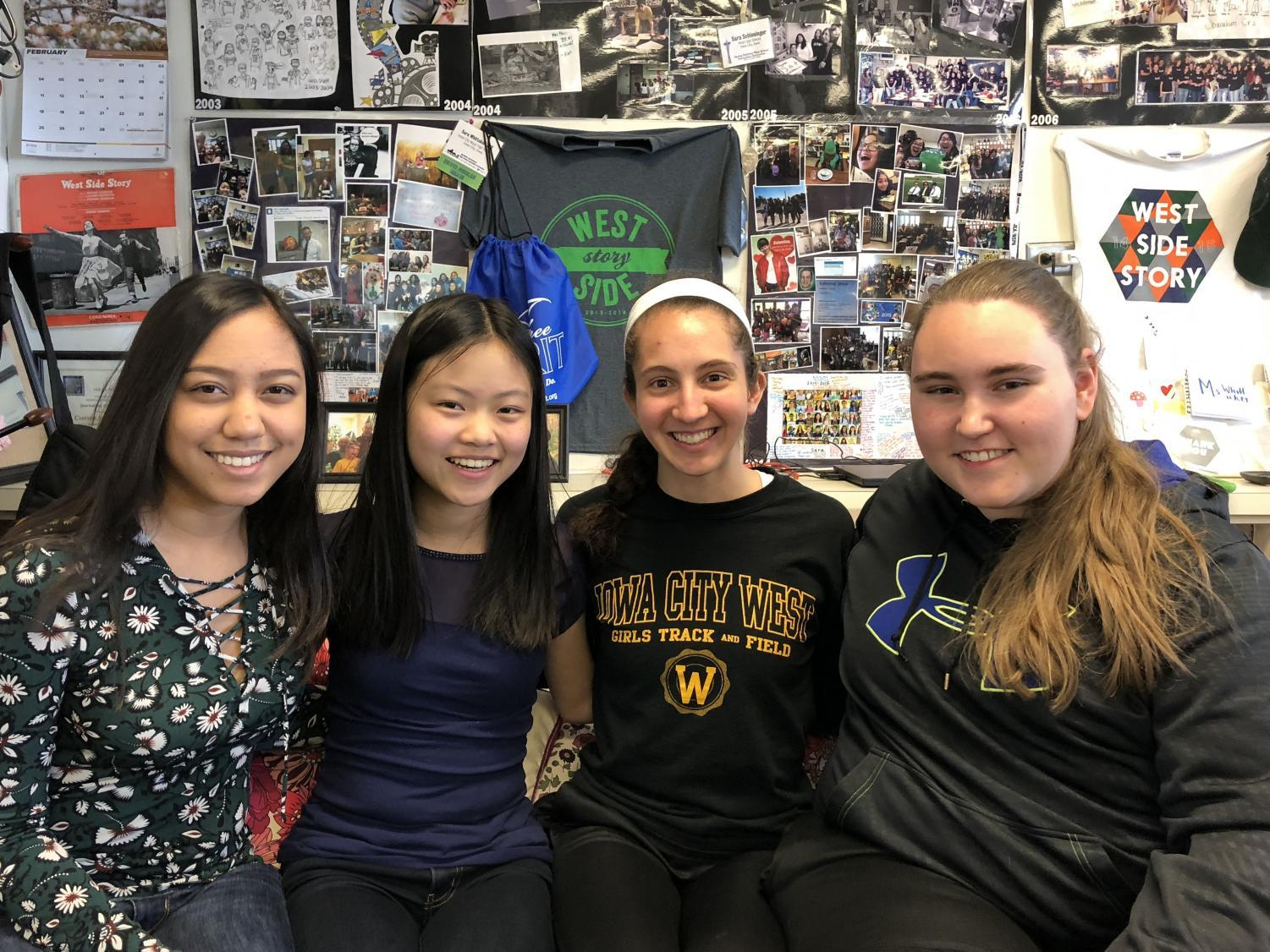 2018 Emerging Journalists: Anjali Huynh '19, Jenna Wang '20, Deniz Ince '19 and Kara Wagenknecht '19.