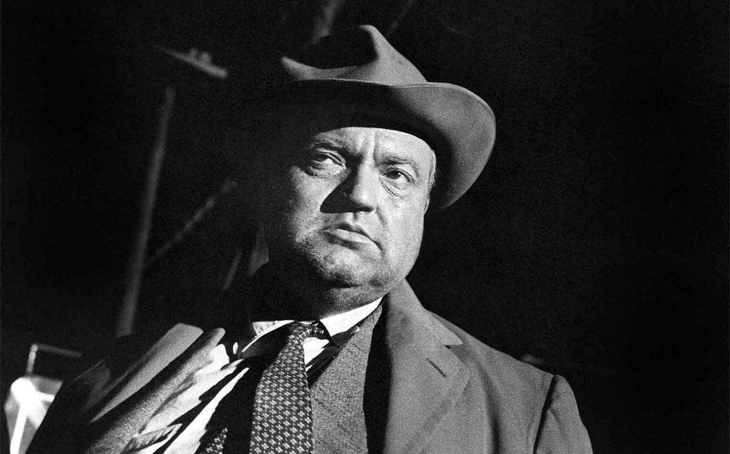 Still of Orson Welles from his film