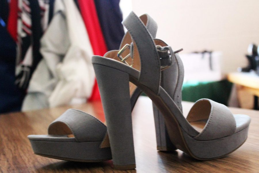 One of the many different shoes available in the West Side Boutique. There are heels of all different heights and colors.