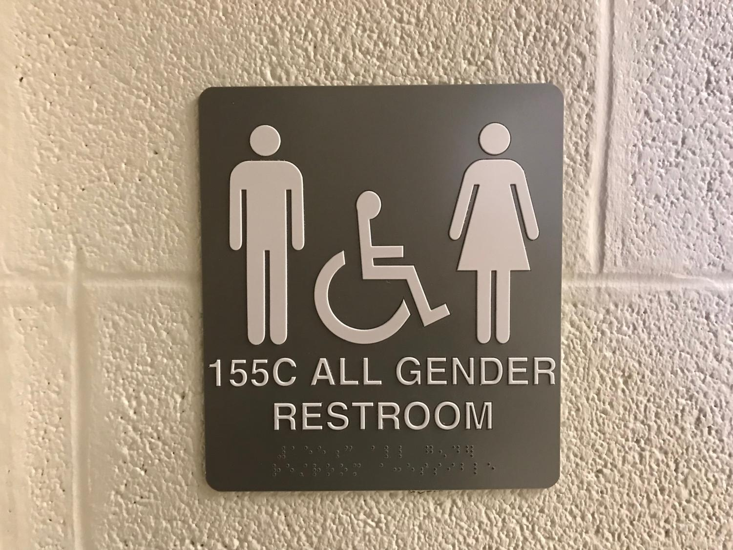 West High's first public gender-neutral restroom is located in the art hallway.
