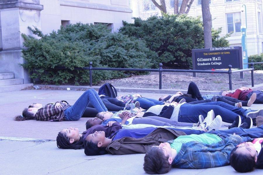 Students hold 'die-in' to protest gun violence