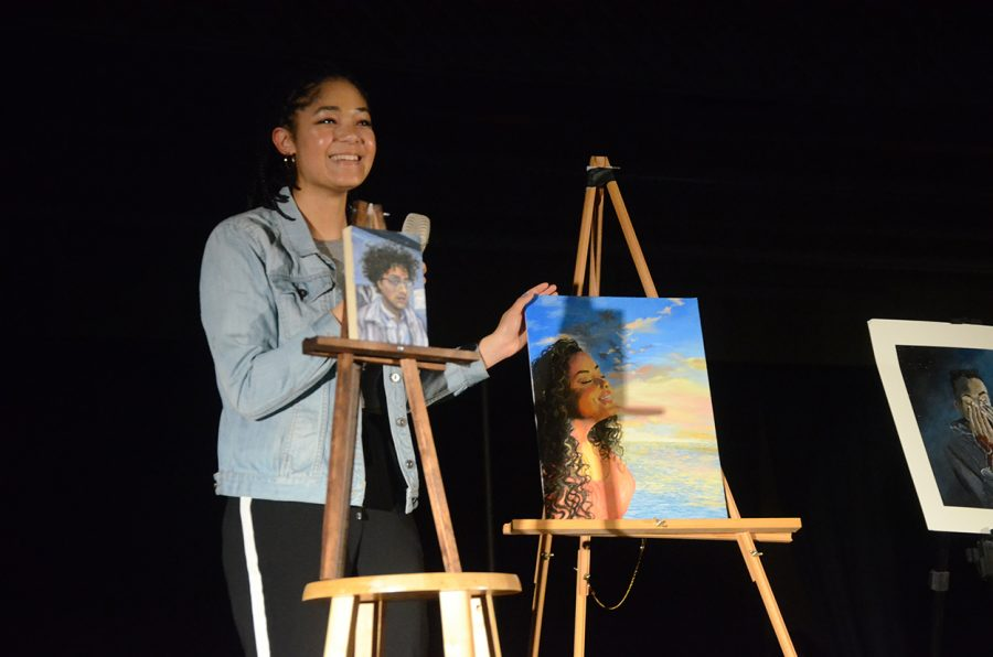 Aisha Kazembe '18 describes her artwork and talks about the importance of more diversity in art.