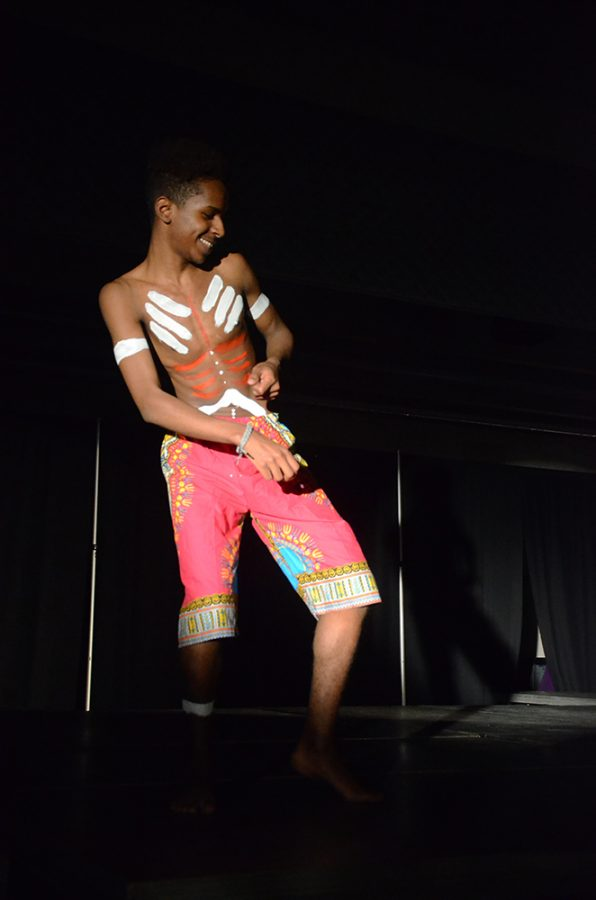 Ibrahim Barakat '19 dances during the African section on Saturday, March 31.