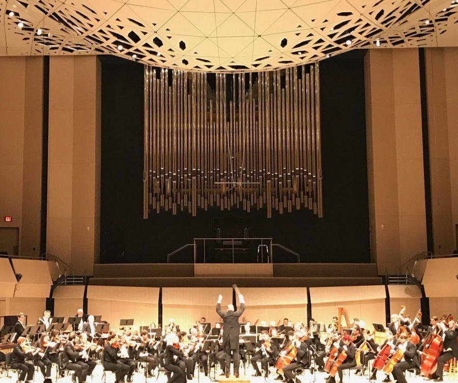 On May 4, Orchestra Iowa performed at Voxman Music Building showcasing Joyce Yang on the piano and Timothy Hankewich' s conducting.