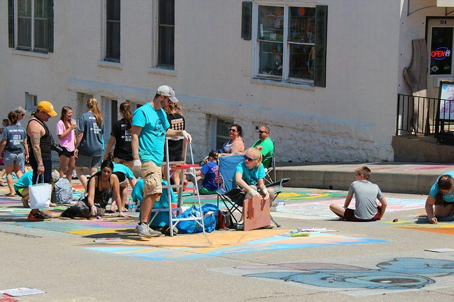 The artists at Chalk the Walk 2018 are expected to use more than a half ton of chalk to decorate downtown Mount Vernon.