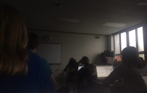 All classrooms went dark in the school when the power went out on Sept. 18, 2018.