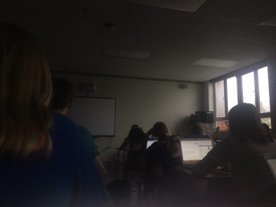 Power outage interrupts class