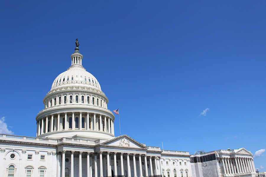 The U.S. Capitol building, located in Washington D.C.