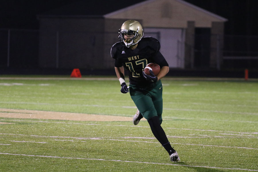 Jalen+Gaudet+%2719+carries+a+punt+return+to+the+end+zone+on+during+the+first+half+of+the+game+on+Friday%2C+Oct.+12.