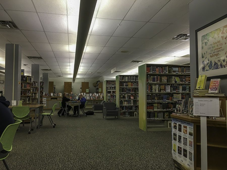 West High's library is a place where friends can hang out before school, students can study and classes can meet.