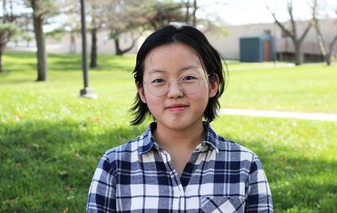 Joy Li '20 smiles for a photo. She will be attending West for only a month before returning to China.