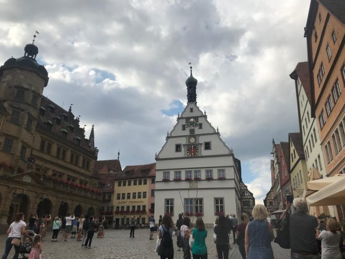 Hirsch's final performance on the 2018 Iowa Ambassadors of Music band tour of Europe was in Rothenburg, Germany.